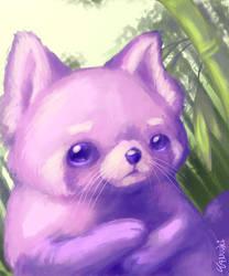[Speedpaint available!] Pink Panda by StuffedPolarFox