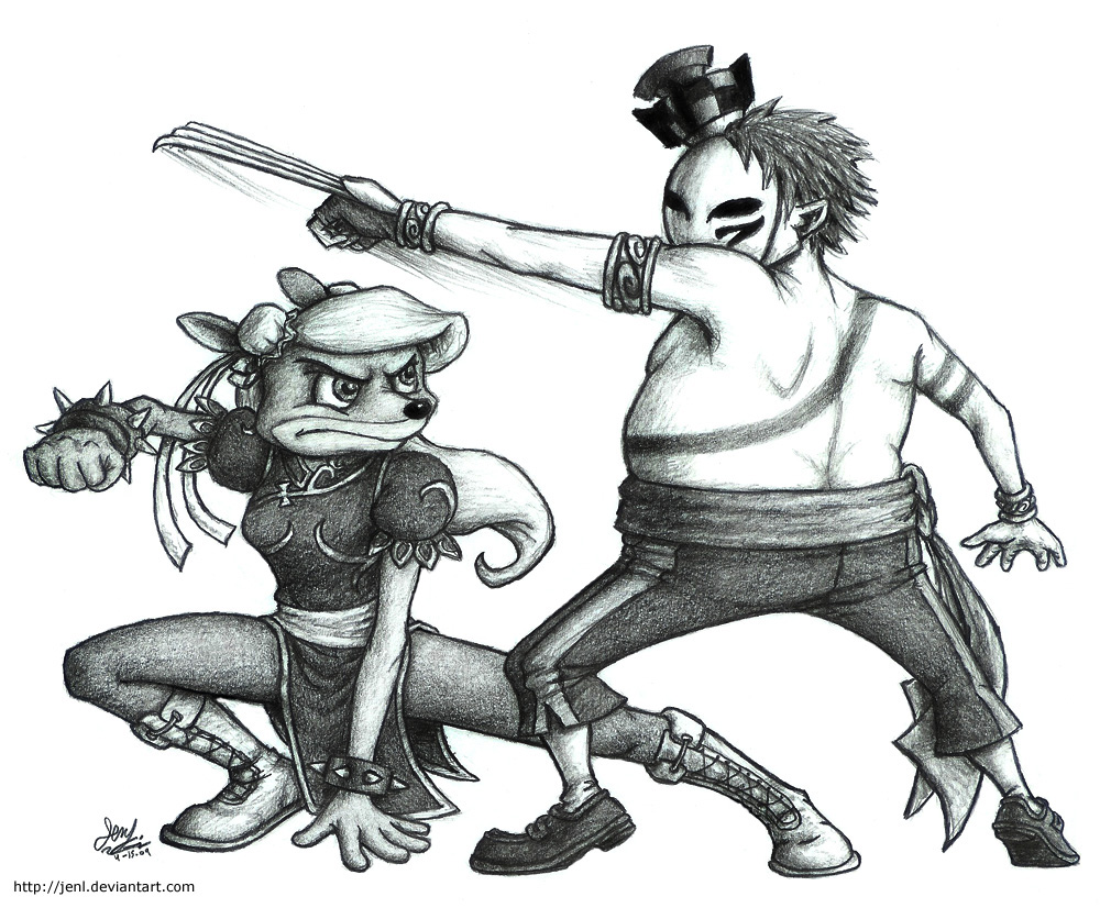Street Fight: Coco VS N. Gin by JenL