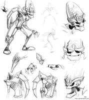 Dr. Nefarious sketches by JenL