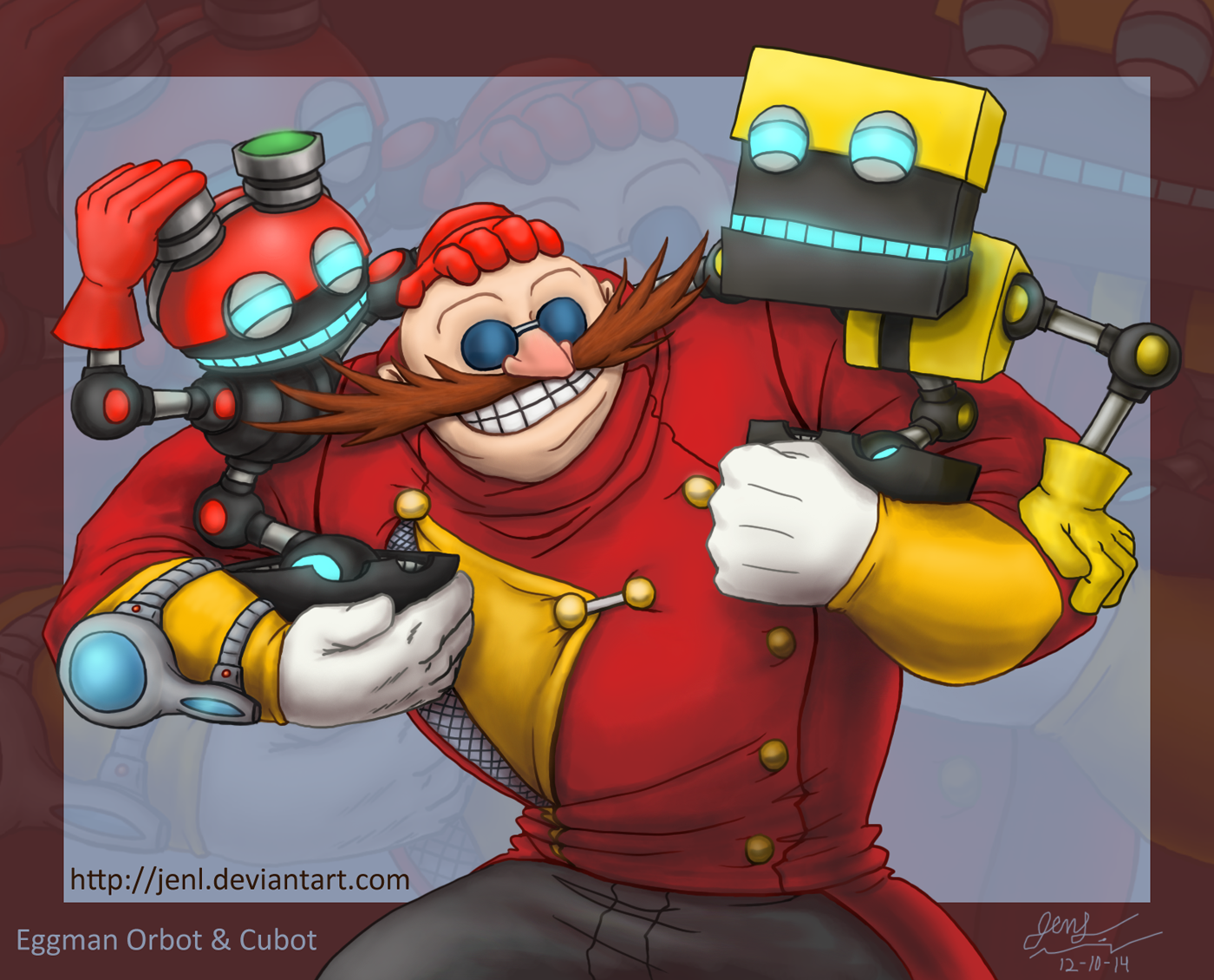 Sonic Boom - Eggman Orbot and Cubot by JenL