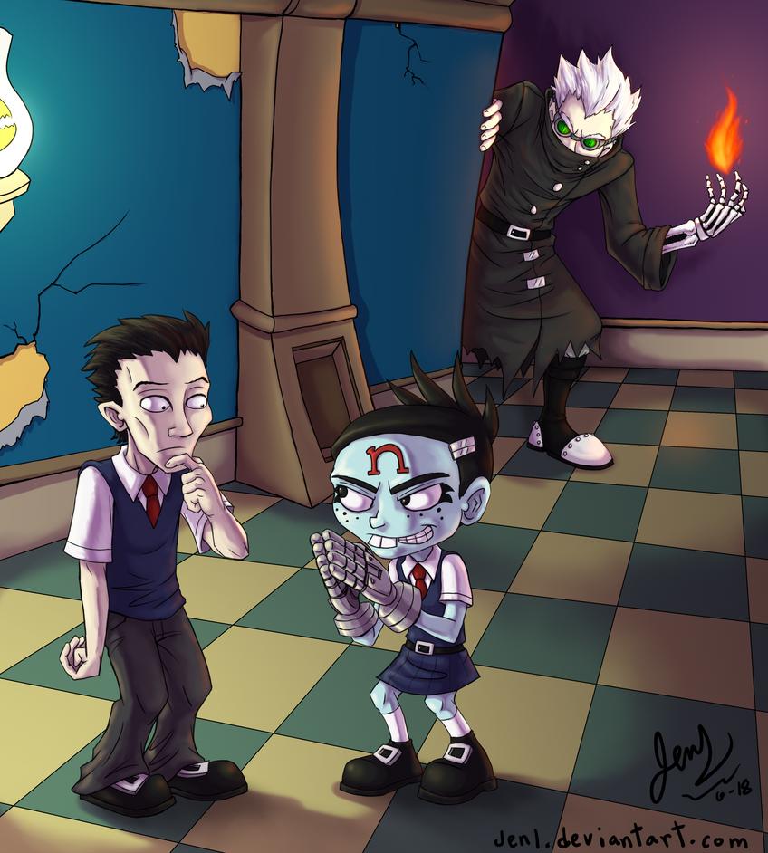 Crash Twinsanity - Academy of Evil by JenL on DeviantArt