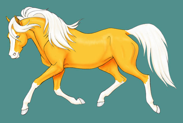 Trotting horse-Palomino by LadyScourgE on DeviantArt