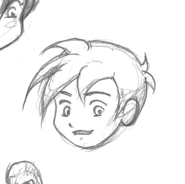 Line Drawing Boy Face : Chibi ish boy face by ladyscourge on deviantart