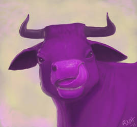 100th deviation: Purple Cow by LadyScourgE