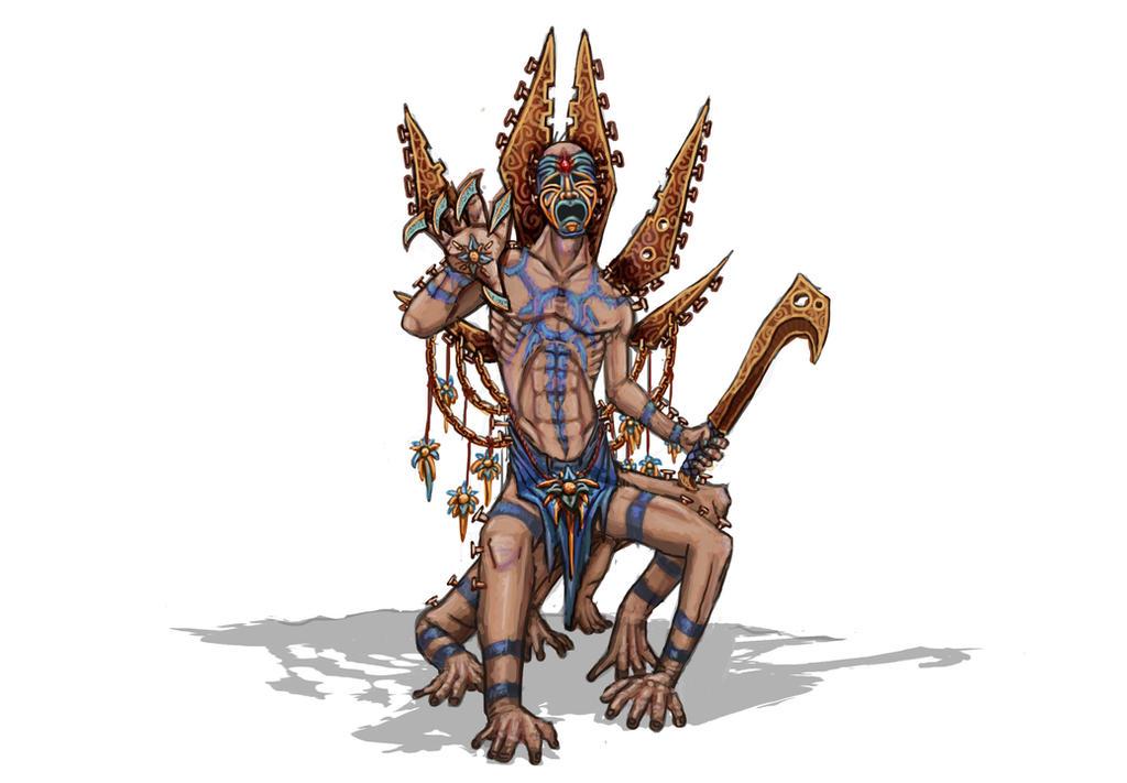 Aztec Daemon concept by Solomon-Mordecai