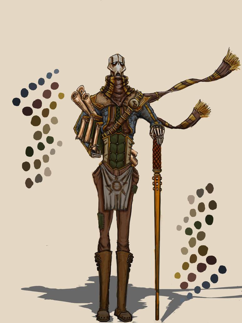 Xeno Archeologist by Solomon-Mordecai