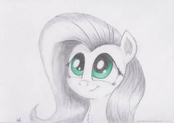 Cute Fluttershy by AppleBeard