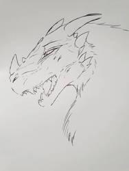 art block dragon