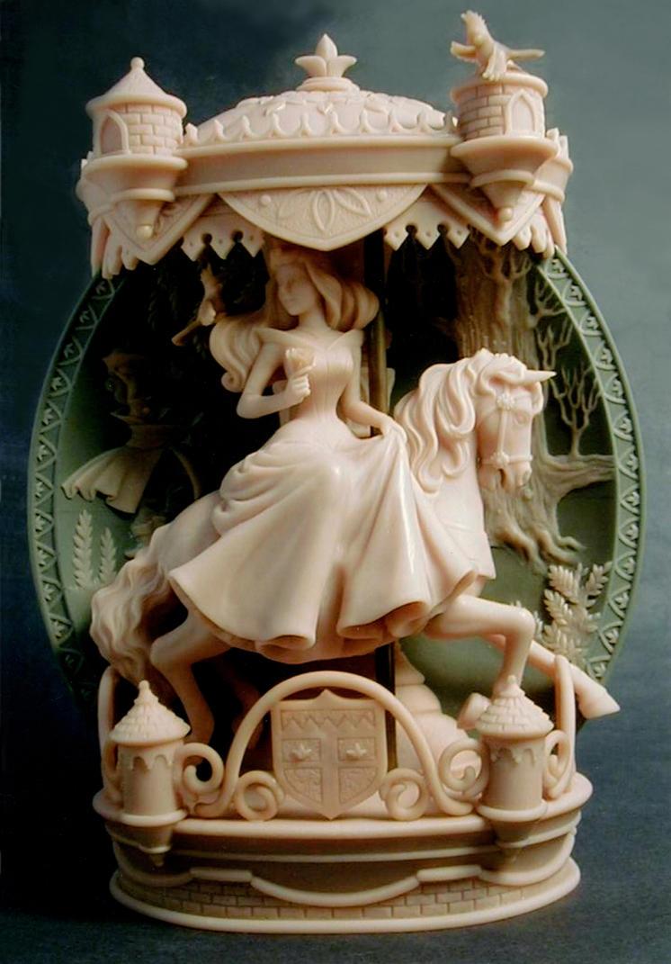 Sleeping Beauty plate by sculptor101