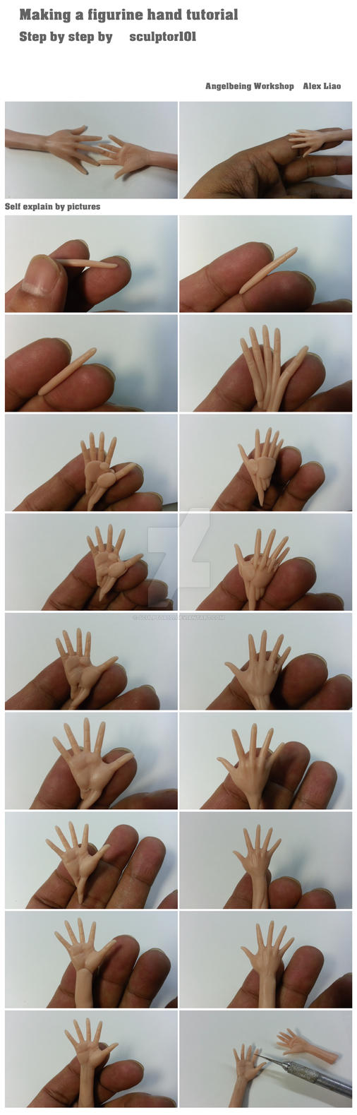 Making a figurine hand tutorial part I by sculptor101