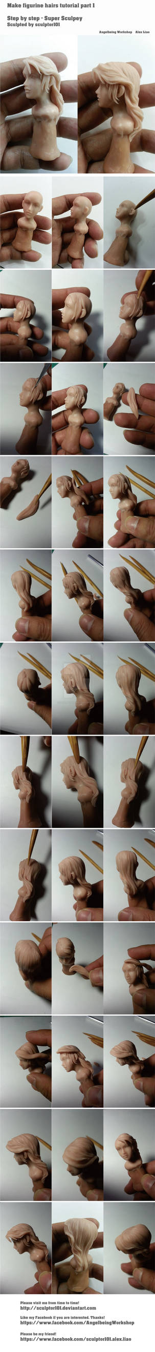 Making figurine hairs tutorial part 1