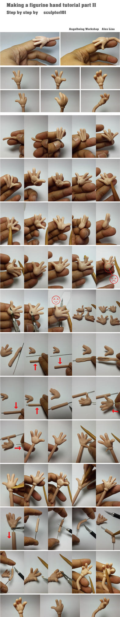 Making figurine hand tutorial part 2 by sculptor101
