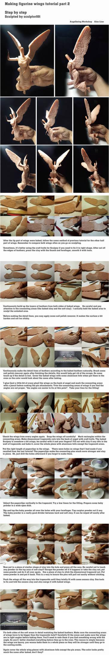 Figurine WIP/ tutorial part 4 wings
