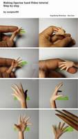 Making figurine hand Video tutorial