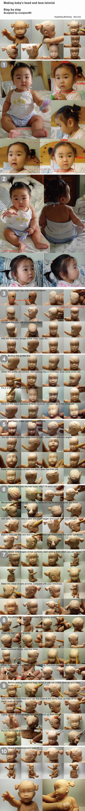 Making baby head and face tutorial