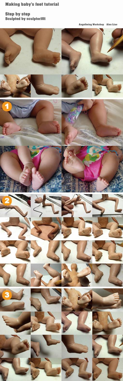 Making baby feet tutorial