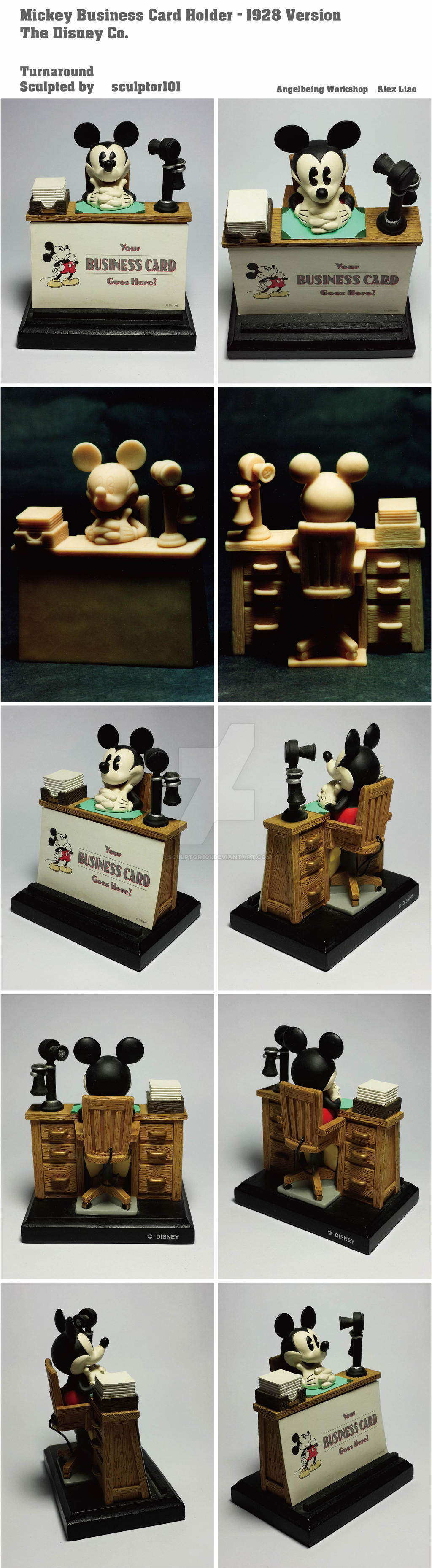 Mickey business card holder 1928 version by sculptor101 on deviantart mickey business card holder 1928 version by sculptor101 colourmoves