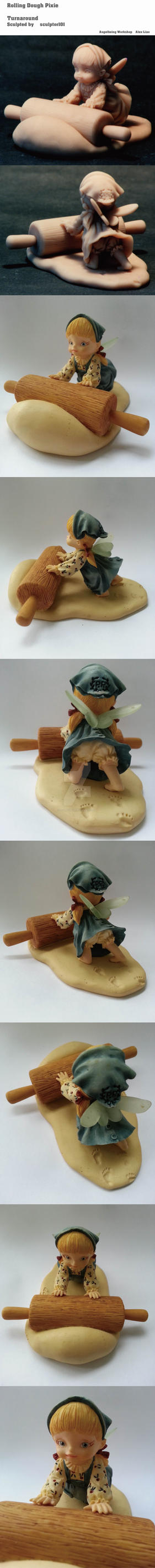 Rolling Dough Pixie by sculptor101