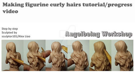 Making figurine curly hair tutorial progress video