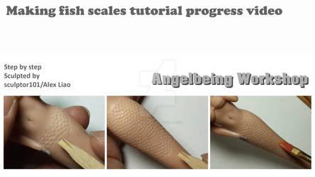 Making fish scales tutorial progress video