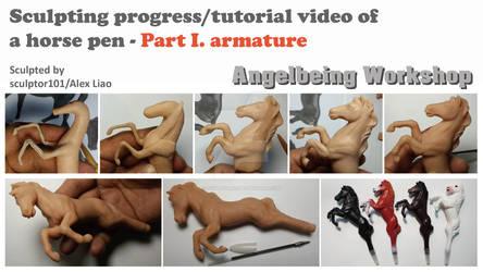 Sculpting video of a horse pen-Part 1 armature
