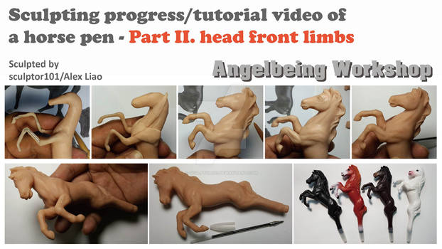 Sculpting video of a horse pen-Part 2-head limbs