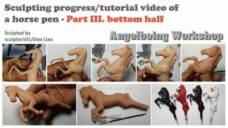 Sculpting video of a horse pen-part 3-bottom half