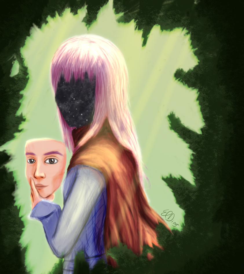 The real face behind the mask by ElDiogo