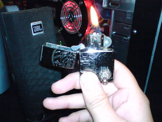 My Final Fantasy AC lighter by OokamiCloud