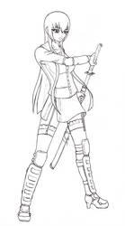 Saeko Busujima stance by OokamiCloud