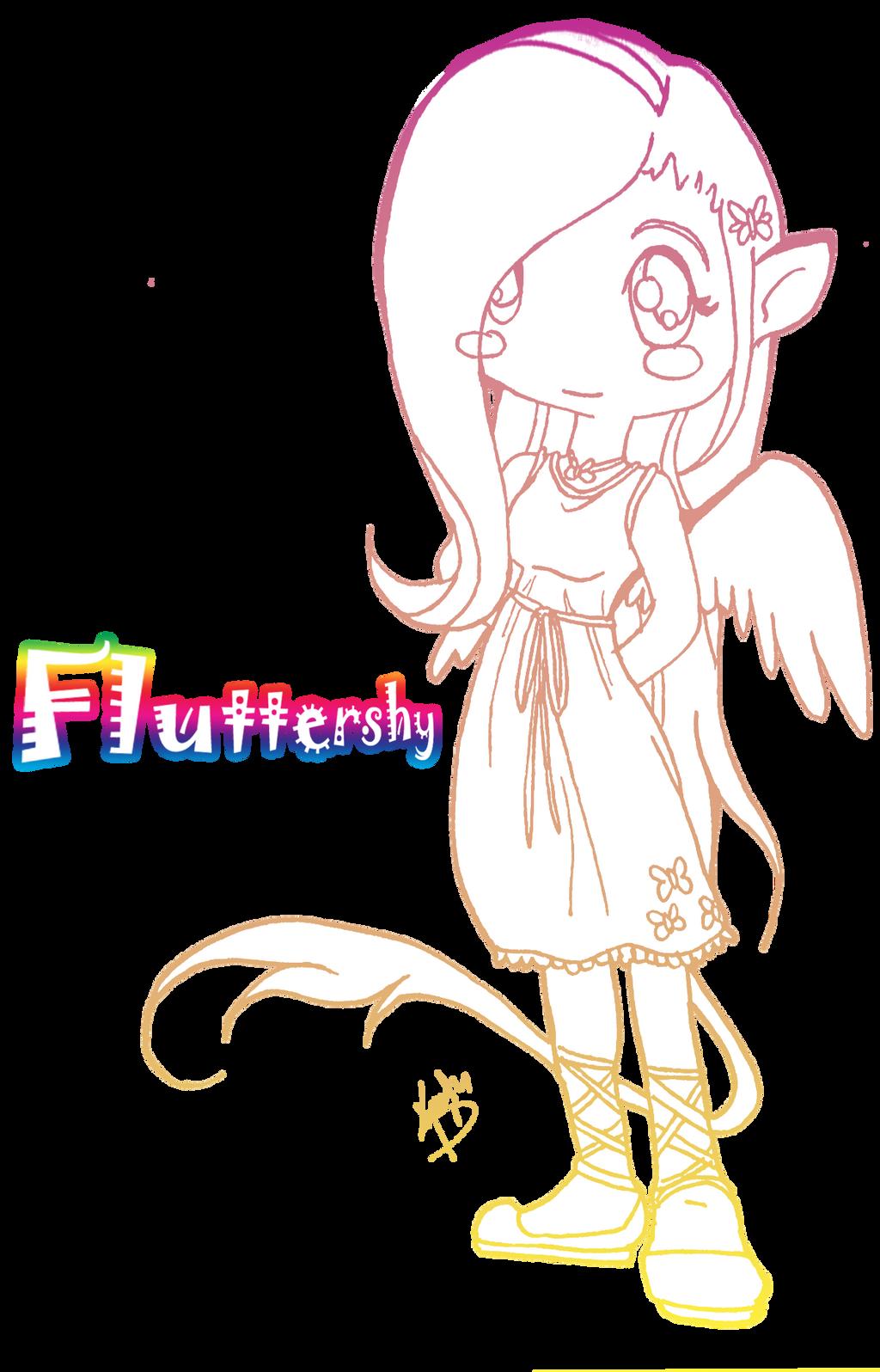 fluttershy human chibi by kristyd on deviantART