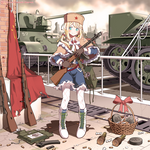 PPSh-41, colored.