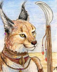 The Desert Warrior by autumnjaguar