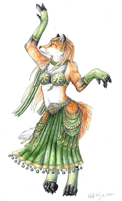 Belly Dancing Vixen - Commish by autumnjaguar