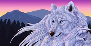 Digital Wolf by autumnjaguar