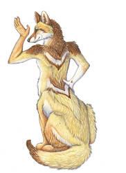Iarann as a coyote taur