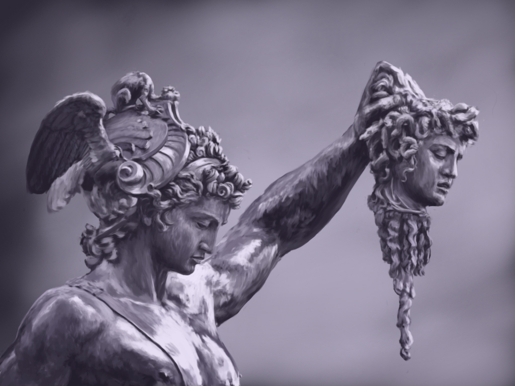 Perseus with the Head of Medusa by Benvenuto Cellini ...  |Perseus With The Head Of Medusa Painting