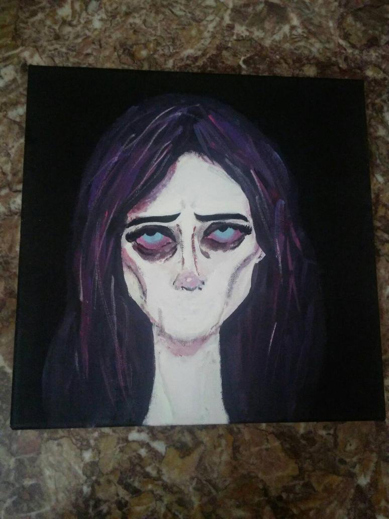 WIP Jessica Jones Painting by geekably