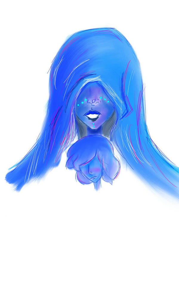 Blue Diamond and her Pearl WIP by geekably