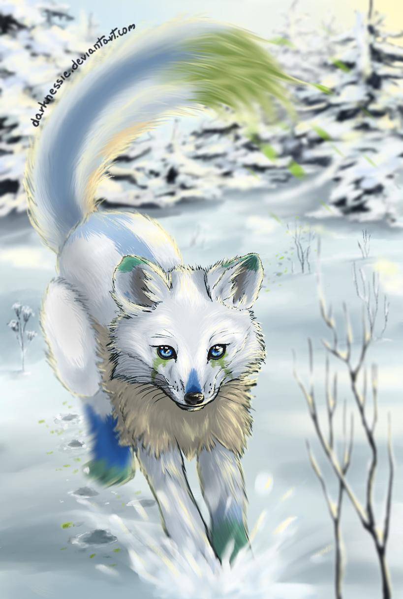 Drip fox by DarkNessie