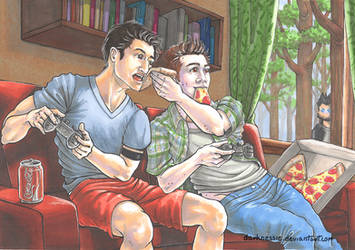 Stiles finally have a good time! by DarkNessie