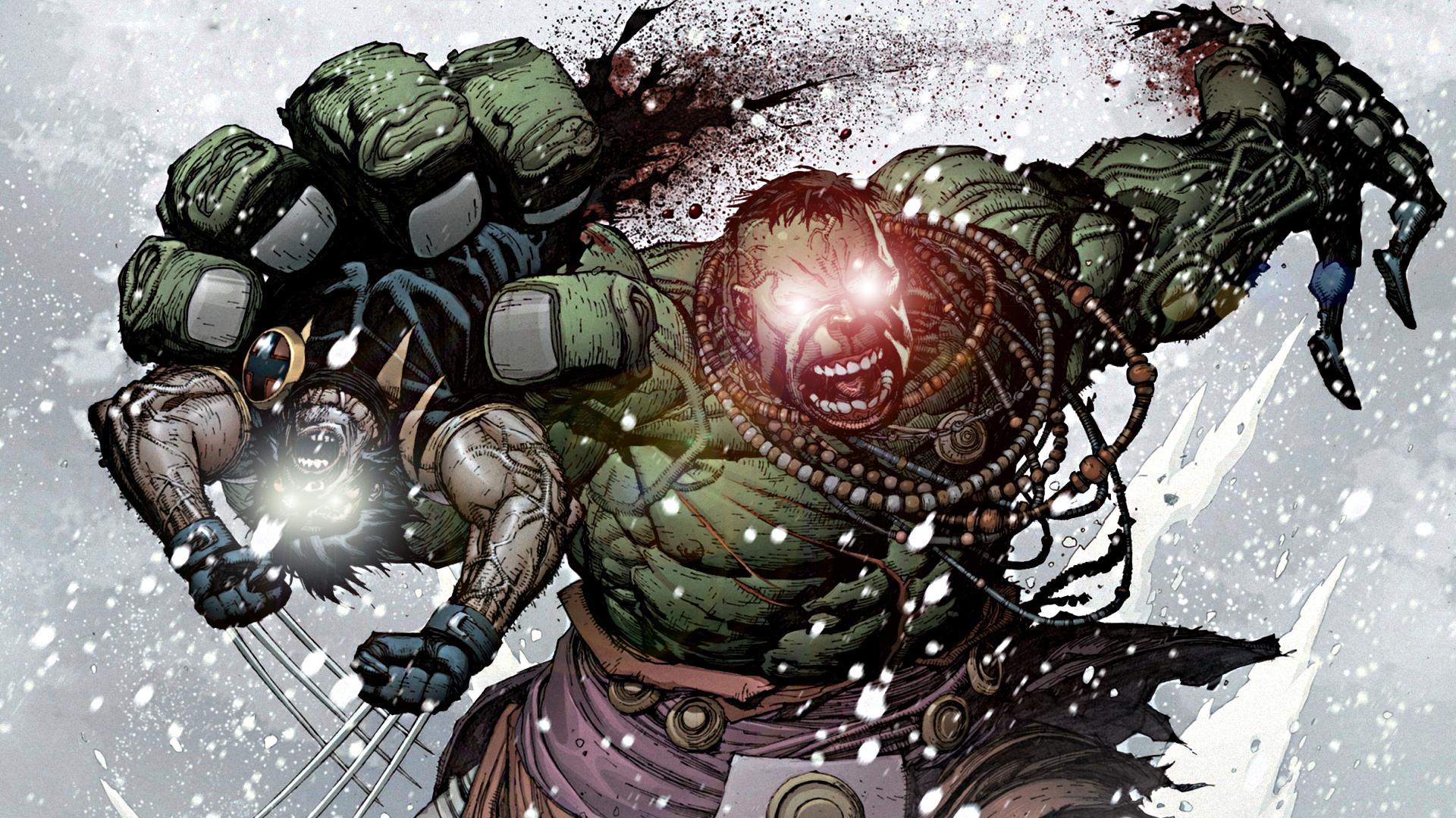 The Incredible Hulk Vs. The Wolverine by ProfessorAdagio