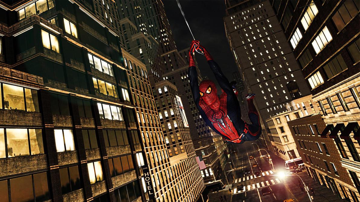 The Amazing Spider-Man Web Swing by ProfessorAdagio