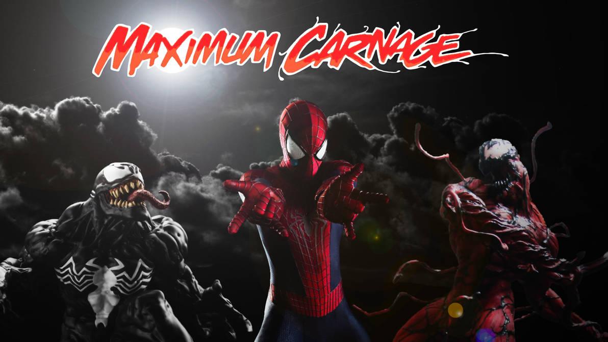 Spider Man And Venom Maximum Carnage Poster 1 By Professoradagio On