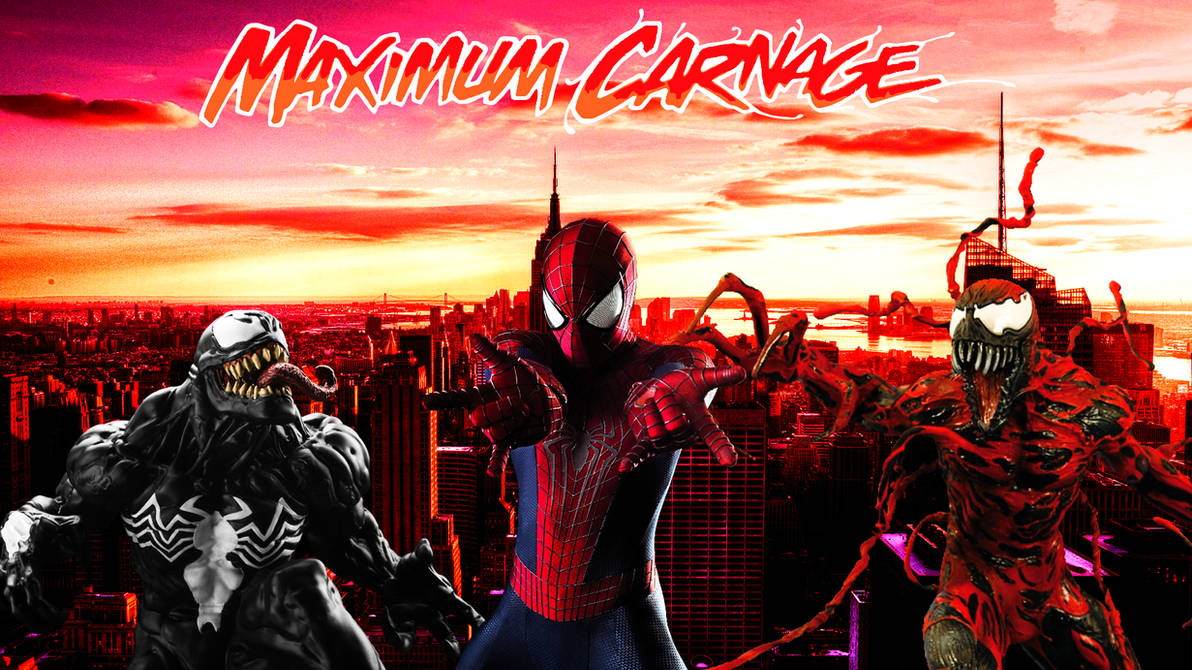 Spider Man And Venom Maximum Carnage Poster 3 By Professoradagio On