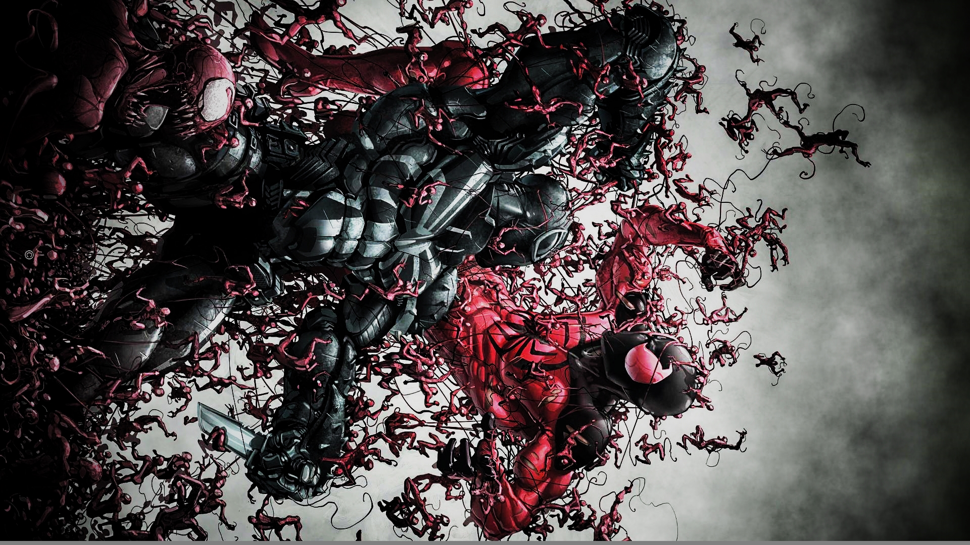 Agent Venom Vs. The Scarlet Spider by ProfessorAdagio