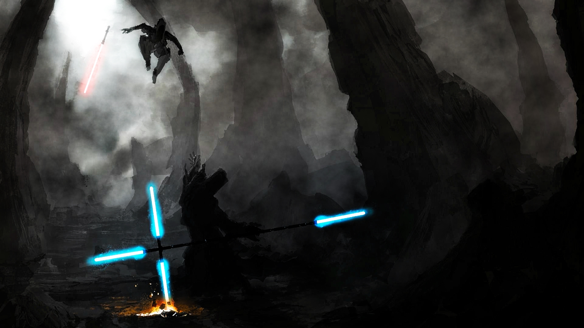 The Jedi Vs. The Sith by ProfessorAdagio