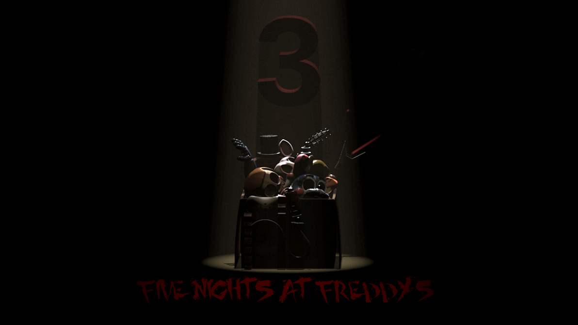 Five nights at freddy s 3 official poster 2 by professoradagio
