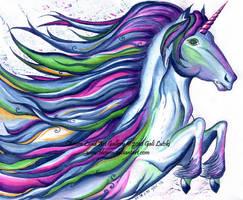Birth of a Unicorn - Ink Study by Olvium