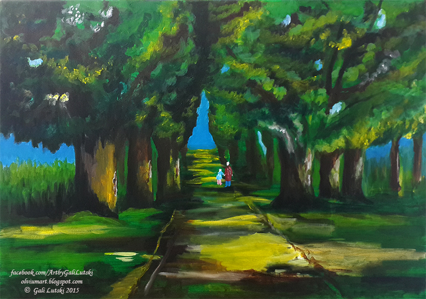 The Path - Quick Acrylics Exercise by Olvium